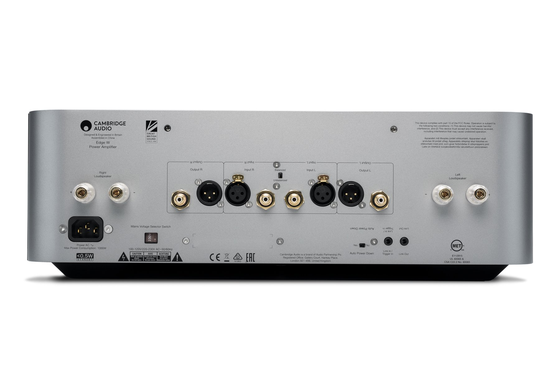 Edge W Power Amplifier Cambridge Audio Tech Specs