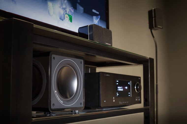 CXR and Subwoofer home cinema setup