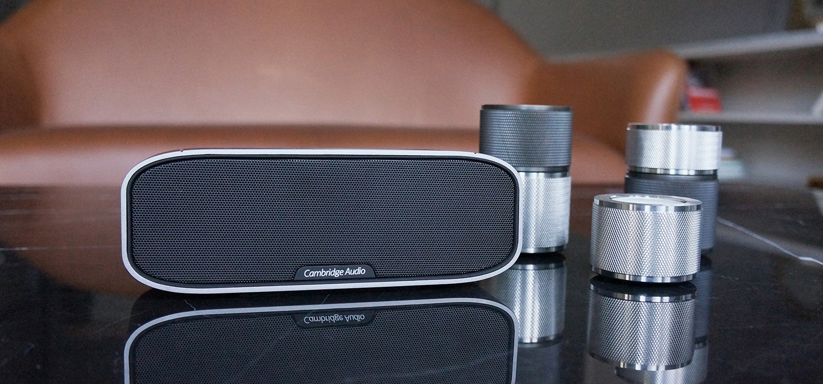 Black Cambridge Audio G2 Mini Portable Bluetooth Speaker with Bass