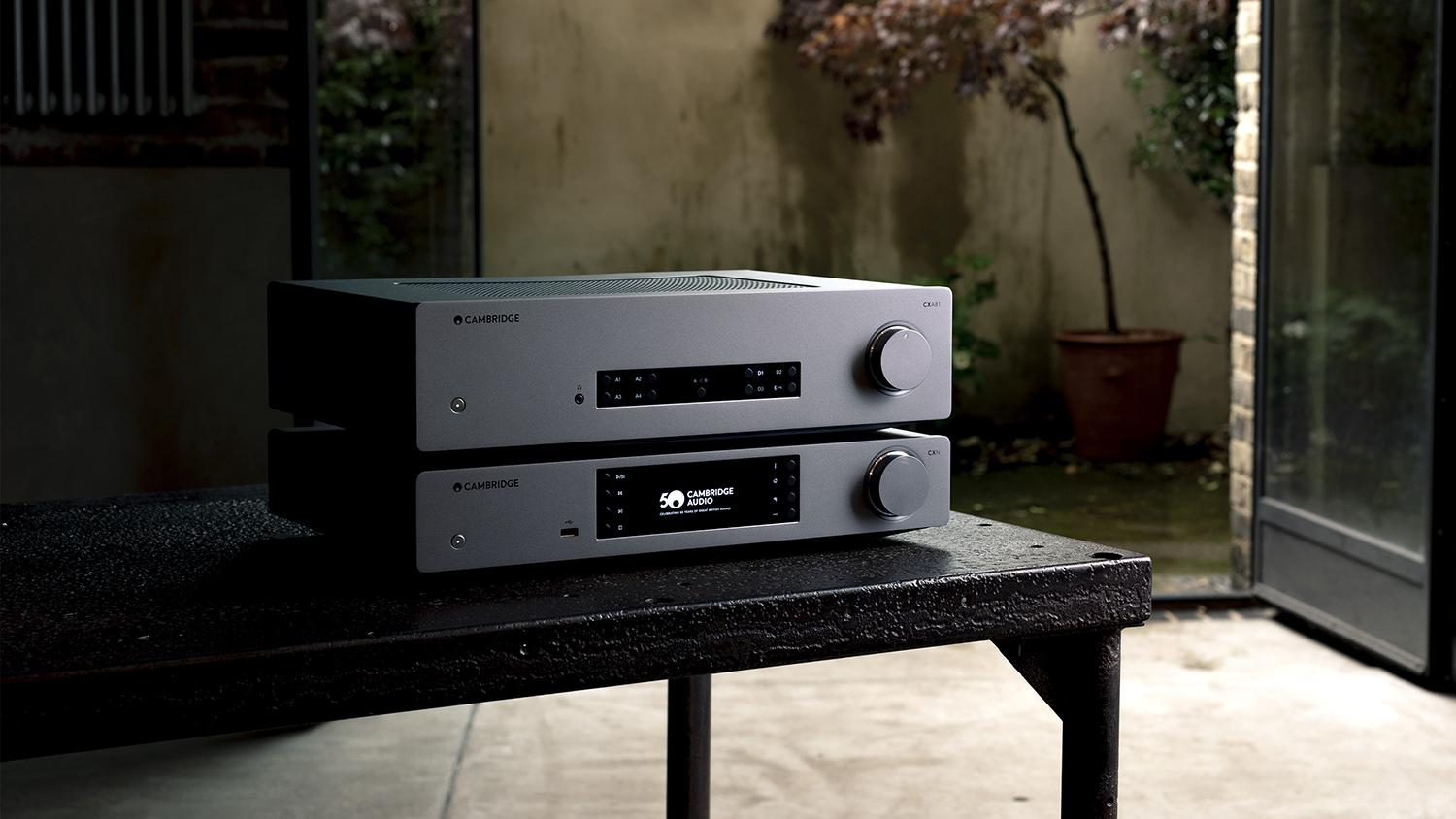 CXA81 amplifier and CXN streamer stack on table