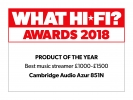 What hi-fi award 2018. Best music streamer £1000 to £1500. 851N