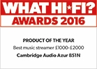 What hi-fi award 2016. Best music streamer £1000 to £2000.
