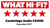 What Hi-Fi? 5 star award CXUHD