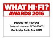 What Hi-Fi? Awards 2016 851N